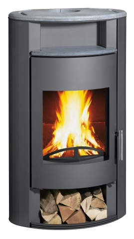 Wamsler Delta with soapstone wood burning modern stove