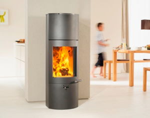 Austroflamm Tower Extra wood burning heat memory stove