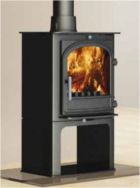 Cleanburn Hunter Norreskoven multifuel fireplace